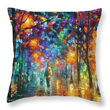 Our Best Friend  Throw Pillow by Leonid Afremov