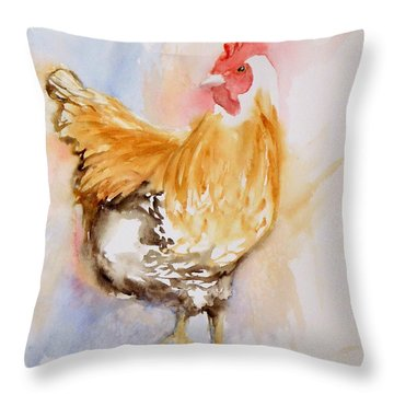 Our Buff Rooster  Throw Pillow