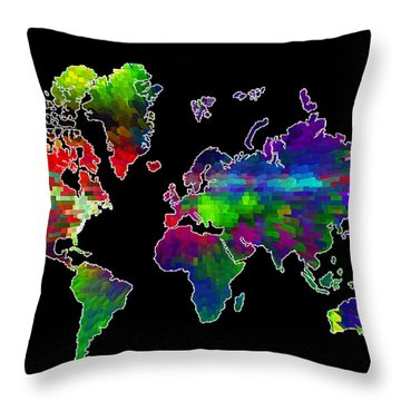 Our Colorful World Throw Pillow by Randi Grace Nilsberg