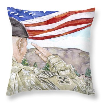 Our Credentials Steadfast And Loyal Throw Pillow
