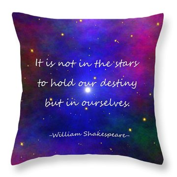 Our Destiny - Shakespeare Throw Pillow