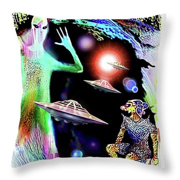 Our Fellow Space Citizens Throw Pillow
