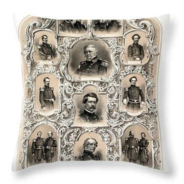 Our Generals -- Union Civil War Throw Pillow
