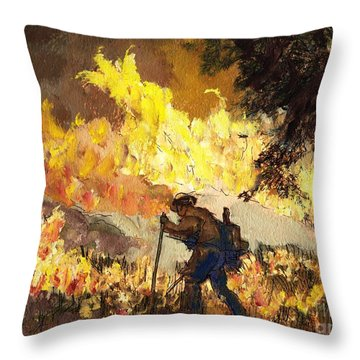 Our Heroes Tonight Throw Pillow