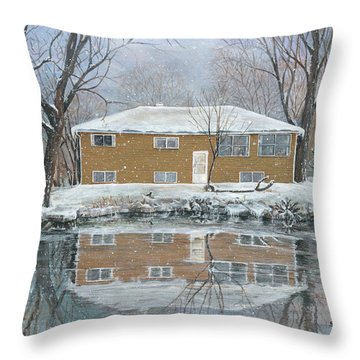 Our House Throw Pillow