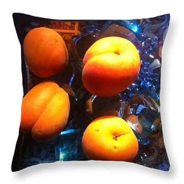 Our Juicy Apricots Throw Pillow