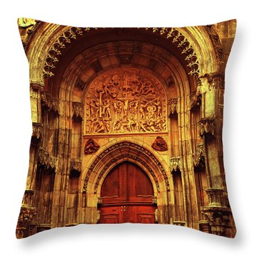 Throw Pillow featuring the photograph Our Lady Before Tyn 1. Architecture. Series Golden Prague by Jenny Rainbow