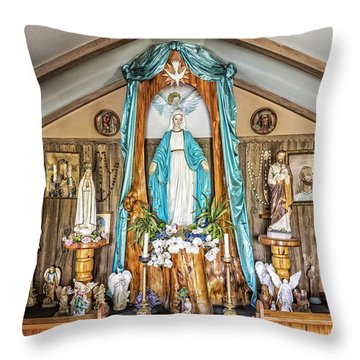 Our Lady Of Blind River Throw Pillow