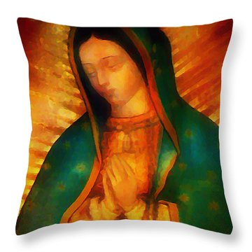 Our Lady Of Guadalupe Throw Pillow by Bill Cannon