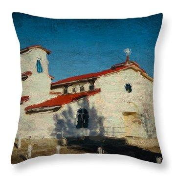 Our Lady Of La Salette Mission Paint Throw Pillow