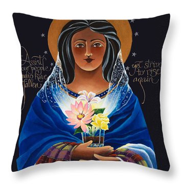 Our Lady Of Light - Help Of The Addicted - Mmlol Throw Pillow
