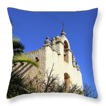 Throw Pillow featuring the photograph Our Lady Of Mount Carmel - Montecito by Art Block Collections