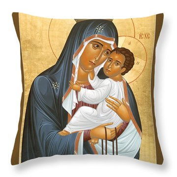 Our Lady Of Mount Carmel - Rlolc Throw Pillow