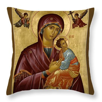 Our Lady Of Perpetual Help - Rloph Throw Pillow