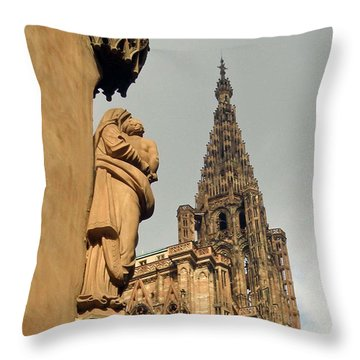 Our Lady Of Strasbourg Throw Pillow