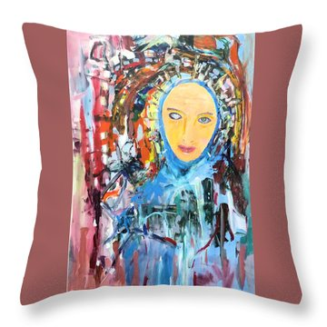 Our Lady Of The Left Eye Throw Pillow