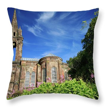 Our Lady Of Victories Throw Pillow by Gaspar Avila