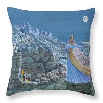 Our Lady Queen Of Peace Throw Pillow
