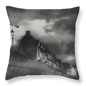 Our Lady Wall Maastricht Throw Pillow by Nop Briex