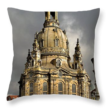 Our Lady's Church Of Dresden Throw Pillow by Christine Till