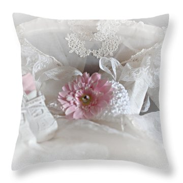 Throw Pillow featuring the photograph Our Little Girl Is All Grown Up by Sherry Hallemeier