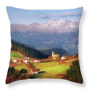 Our Little Switzerland Throw Pillow