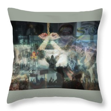 Our Monetary System  Throw Pillow by Eskemida Pictures