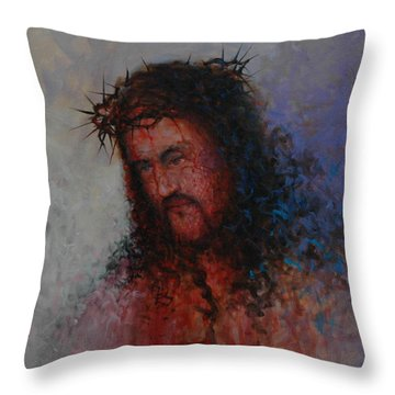Our Precious Savior Throw Pillow by Michael Nowak