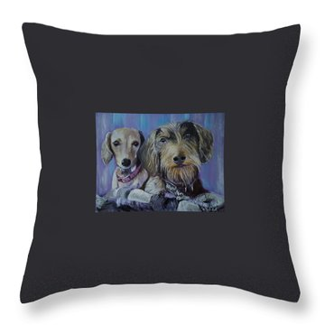 Our Pups Throw Pillow