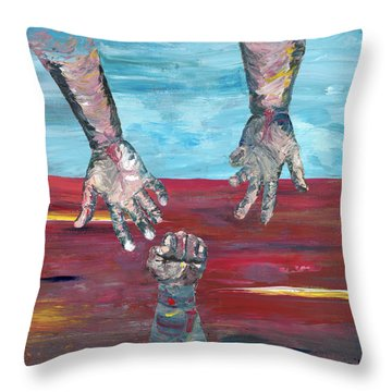 Our Sense Of Peace Is Only As Secure As Our Grasp Of Grace Throw Pillow