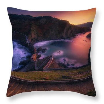 Our Small Wall Of China Throw Pillow