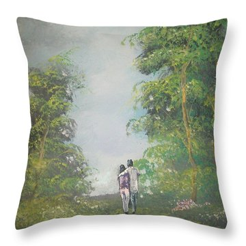 Our Time Together Throw Pillow by Raymond Doward