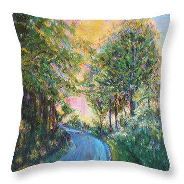 Our Trail Throw Pillow