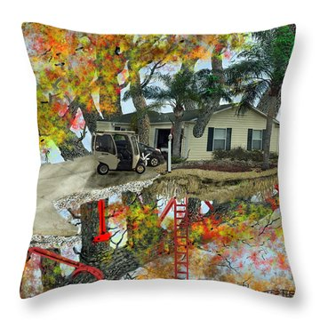 Our Tree House Throw Pillow