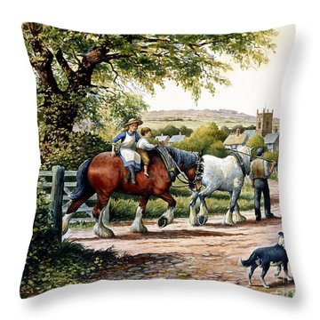 Our Village Home Throw Pillow