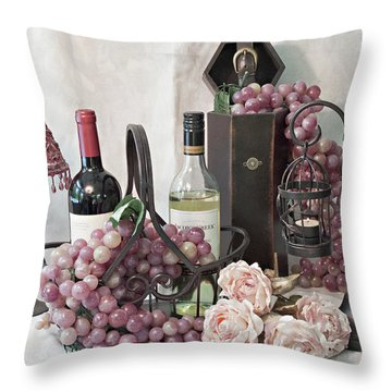 Throw Pillow featuring the photograph Our Wine Cellar by Sherry Hallemeier