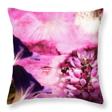 Our World Solitude Sunset Throw Pillow by Cathy  Beharriell
