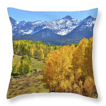Throw Pillow featuring the photograph Ouray County Road 8  by Ray Mathis