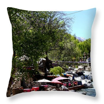 Throw Pillow featuring the photograph Ourika Valley 1 by Andrew Fare