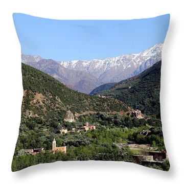 Throw Pillow featuring the photograph Ourika Valley 2 by Andrew Fare