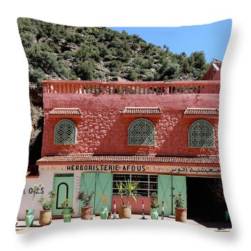 Throw Pillow featuring the photograph Ourika Valley by Andrew Fare