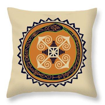 Ouroboros With Devine Fire Wheel Throw Pillow
