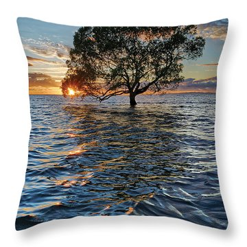 Out At Sea Throw Pillow by Robert Charity