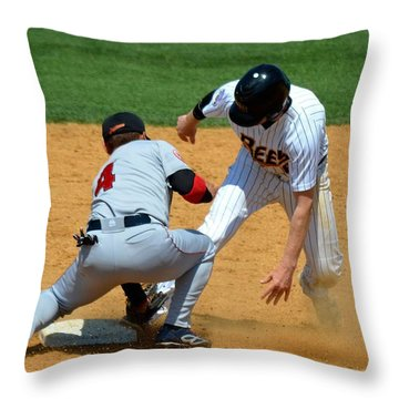 Out At Second Throw Pillow