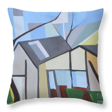 Out Back Down Oakwood Throw Pillow