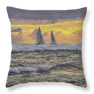 Out Beyond The Breakers Throw Pillow