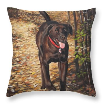 Out For A Walk #1 Throw Pillow