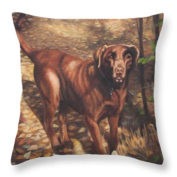 Out For A Walk #2 Throw Pillow