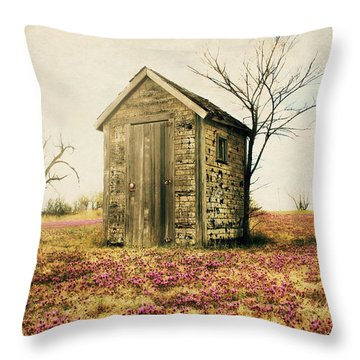 Throw Pillow featuring the photograph Outhouse by Julie Hamilton