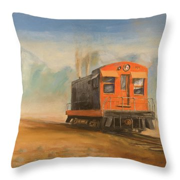 Out Near Smoke Creek Throw Pillow by Christopher Jenkins